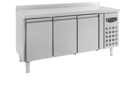 Multinox koelwerkbank - 3 deuren met opstaande rand