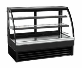 Multinox opzet koelvitrine zwart - 298 liter