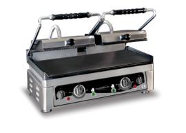 Multinox dubbele contact grill -  geribbeld en vlak