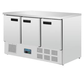 Polar koelwerkbank - 3 deuren