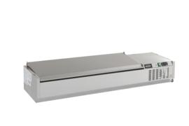 Multinox opzet vitrine - RVS deksel - diverse lengtes