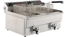 Multinox elektrische tafel friteuse - 2 x 8 liter