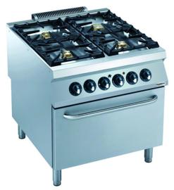 Gasfornuis met elektrische oven 900 lijn
