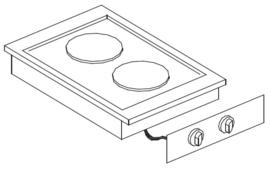Drop-in elektrische kookunit