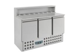 Multinox Pizza koelwerkbank met 3 deuren 1/1 GN