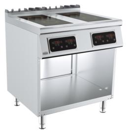 Elektrische inductie kooktafel 4 x 2,6 kW