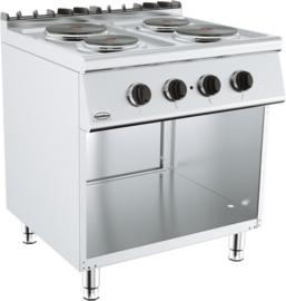 Multinox elektrische kooktafel 700 mm 4 platen