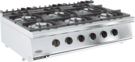 Tafelmodel gaskooktafel 6 x 6,5 kW