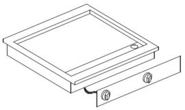 Drop-in elektrische bakplaat
