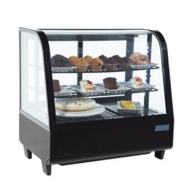 Polar gekoelde vitrine zwart - 100 liter