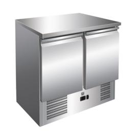 RVS koelwerkbank 2 deurs - geforceerde koeling