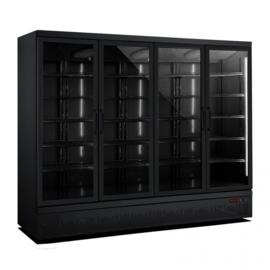Multinox vier deurs glasdeur koeling zwart - 2025 liter
