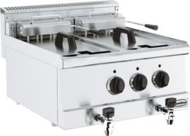 Multinox elektrische friteuse 2 x 10 liter