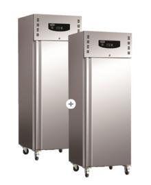 Multinox RVS koel- en vrieskast - 2 x 600 liter - Standard line