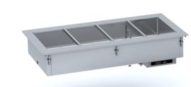 Drop-in bain marie - 515 mm - handmatig water vullen