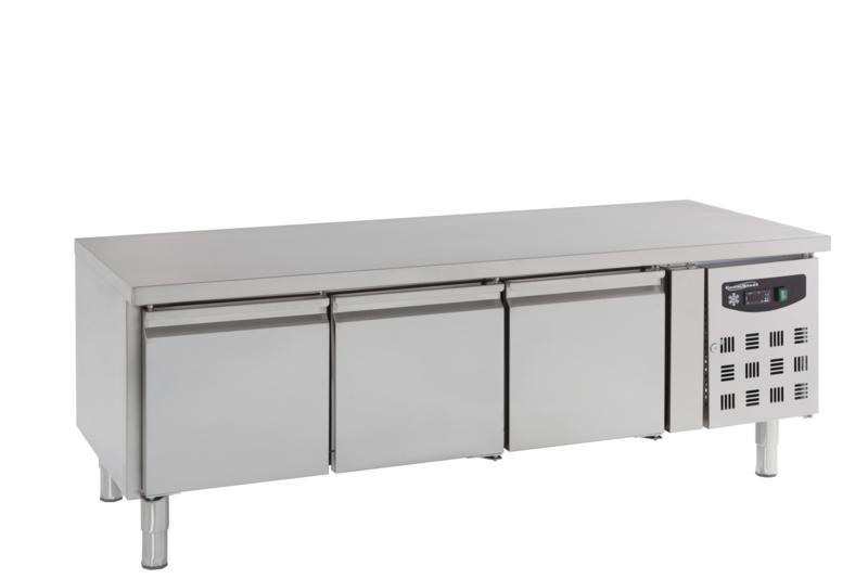 Multinox koelwerkbank - 3 deuren 650 hoog
