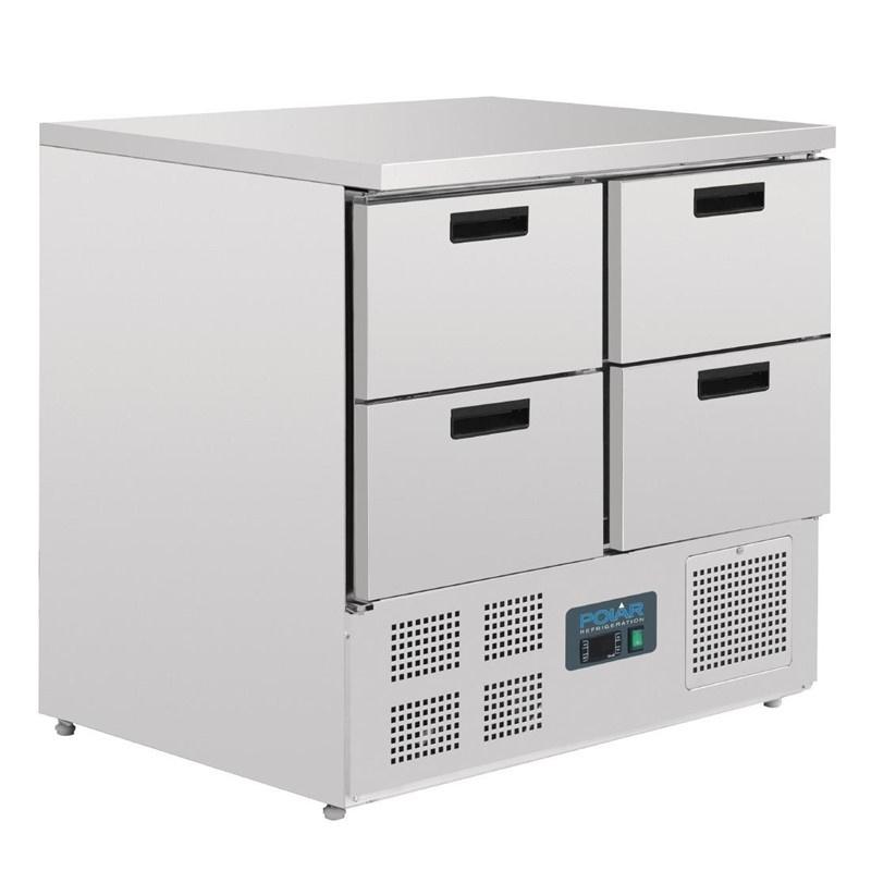 Polar koelwerkbank - 4 laden