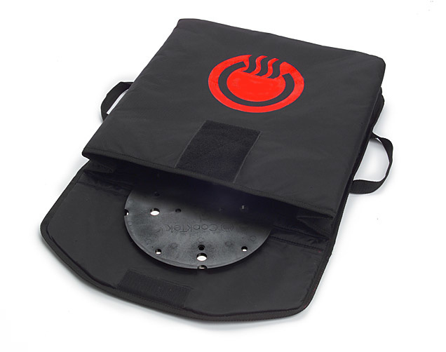 "CookTek VaporVent Pizza Bag 18"" zwart - complete set"