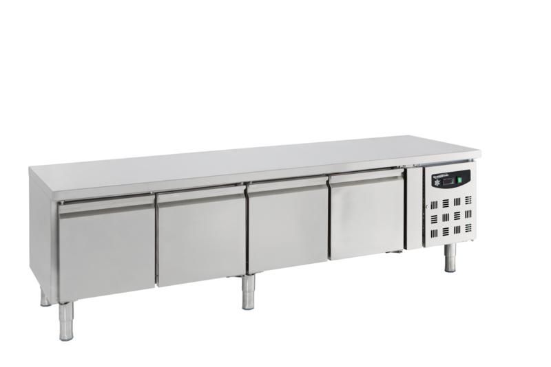 Multinox koelwerkbank - 4 deuren 650 hoog