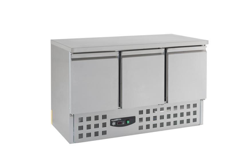 Multinox koelwerkbank - 3 deuren - 1365 mm breed