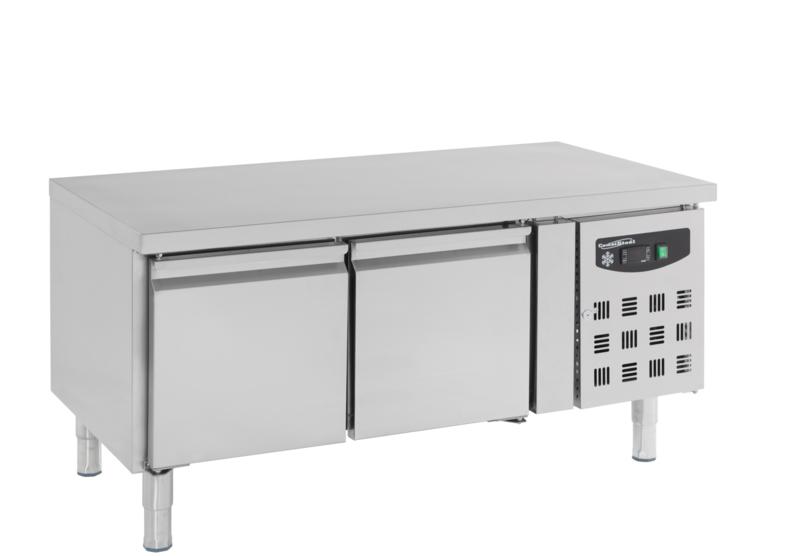Multinox koelwerkbank - 2 deuren 650 hoog 1360 mm breed