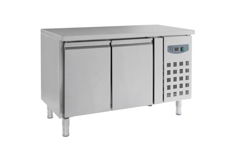 Multinox koelwerkbank - 2 deuren 700 hoog 1360 mm breed