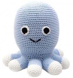 Knuffel octopus licht blauw