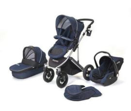 Combi kinderwagen zwart of donkerblauw