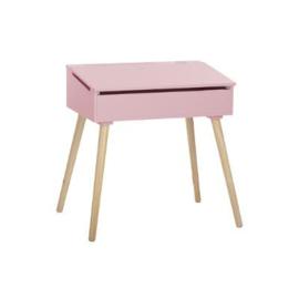 Bureau met klep roze&grijs