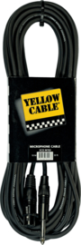 Microfoonkabel YELLOW CABLE Standard Jack mono/XLR female 10m