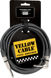 Kabel jack/jack haaks metaal 3m YELLOW CABLE Pro