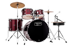 Drumset TORNADO TND5044TC dark red