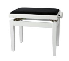 Pianobank Gewa Deluxe wit hoogglans