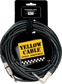Kabel jack/jack haaks metaal 6m YELLOW CABLE Pro