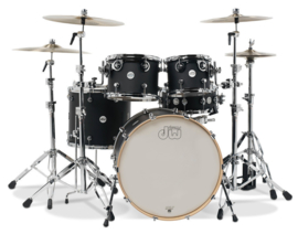 Drumset DW Shell set Design Black Satin
