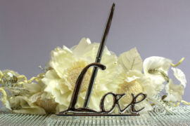 Pennenhouder Love Zilver