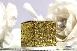 Bedankdoosje Glitter Goud 6 stuks