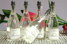 Champagne Bellenblaas Flesje 6 stuks