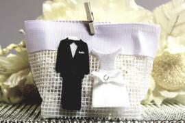 Huwelijks Tasje Bruidspaar 6 Stuks