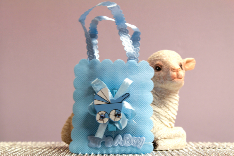Geboorte Tasje Blauw 6 Stuks