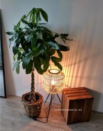 Klantenfoto lamp bamboe driepoot