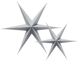 Delight Department Paper Stars Silver Glitter set van 2