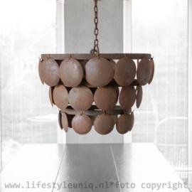 Metalen Schijfjeslamp Roest 40 cm