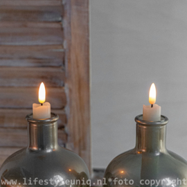 Led Kaars Wax 3D vlam Set van 2