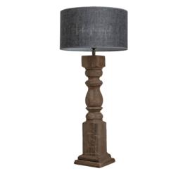HOUTEN BALUSTER LAMP met kap