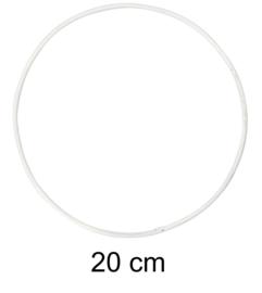 Ring voor dromenvangers - 20 cm Wit