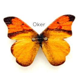 Knoop Houten Vlinder - Oker