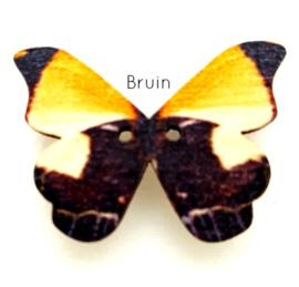 Knoop Houten Vlinder - Bruin