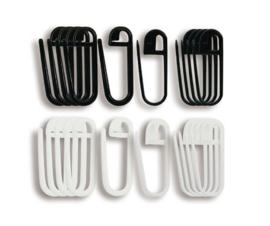Seeknit stekenmarkeerders Black & White