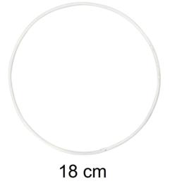 Ring voor dromenvangers - 18 cm Wit